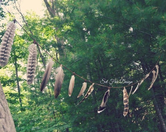 Feather Garland Made From Cruelty Free Feathers