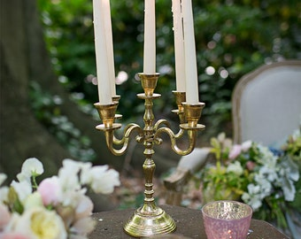 Gold Candelabra 12in