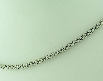 Vintage 14 K white gold round necklace