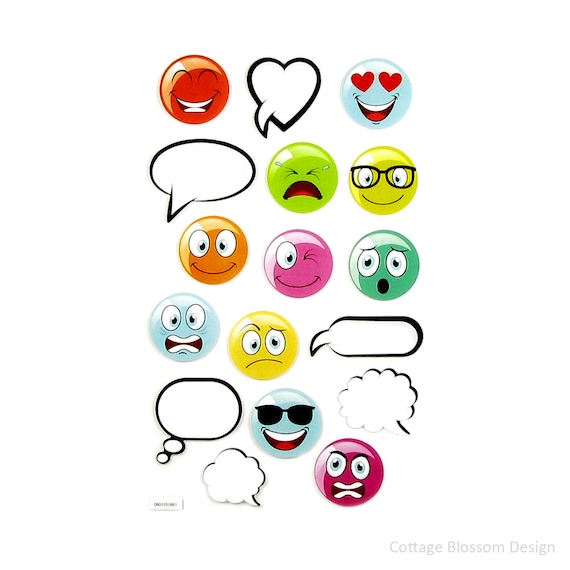 Colorful Cartoon Emoji Planner Stickers