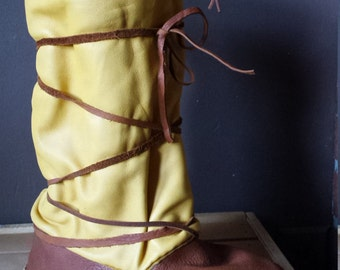 Custom Made Leather Mukluks