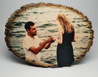 Anniversary Gift, Custom Wood Photo, Anniversary Present, Wedding Anniversary, 5th Wedding Anniversary Gift, Anniversary Gift on Wood