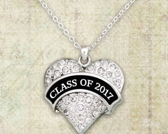 Class Of 2017 Heart Necklace - 54434