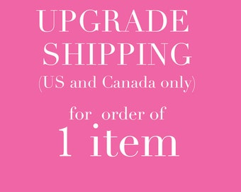 upgrade shipping for order of 1 item