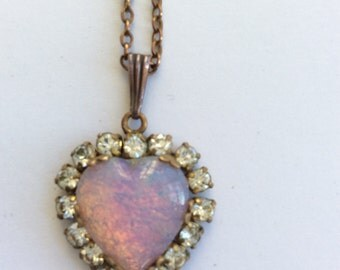 A Victorian Paste Pendant and Chain