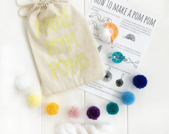 craft kit - diy kit - diy craft kit - pompom - kids craft kit - craft kits - sewing kit - small pompom kit