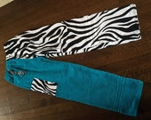 Towel Pants - Size XL - Zebra Teal
