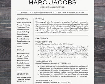 modern resume template cv template for word mac or pc professional design