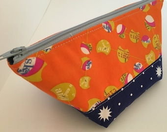Cosmetic Bag, Bridesmaid Gift, Zipper Pouch, Makeup Bag, Toiletry Bag, Travel Bag, Small Cosmetic Bag, Teen Girl Gift idea, Hipster Pouch