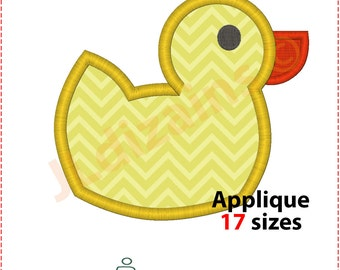 Duck applique design. Machine embroidery design -INSTANT DOWNLOAD- 17 sizes. Duck applique. Duck embroidery design. Duckling applique design