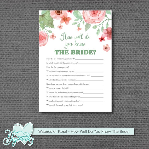 Punchy image regarding how well do you know the bride printable