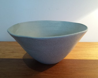 SALE! Hand Thrown Soft Jade Noodle Bowl OOAK