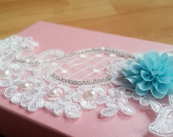 Wedding Garter, Bridal Garter, Something Blue, Toss Garter, Keepsake Garter