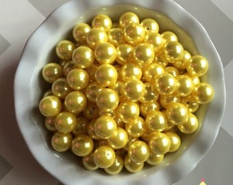 20mm Bright Yellow Chunky Beads Pearls (A02)
