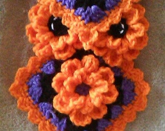 Crochet Halloween Owl Potholder/Hotpad Pattern only
