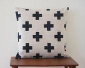 Swiss Cross Cushion, Scandinavian Pillow, Decorative Pillow Cover, Cross Minimalist Throw Cushion Cover, Pillow Case, Sofa Cushion, Linen