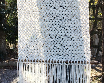 Large macrame tapestry