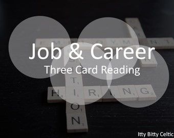 3 Card Career Tarot Reading or Oracle Reading for Career & Work Guidance, Intuitive Reading, Video Tarot Reading Sent within 24 Hours