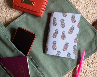 Small Pineapple Notebook // Tropical