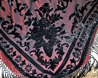 Bags Home bordeaux Blanket - Fringeblanket - unique Blanket - Homedecor - Throw Blanket - Samtblanket