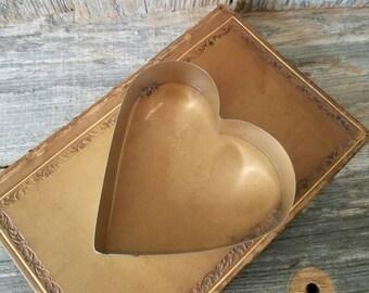 Retro Metal Heart Cookie Sandwich Cutter, Heart Shaped Cookie Cutter