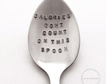 Calories Dont Count On This Spoon Teaspoon - Eating Disorder/Mental Illness Recovery Gift