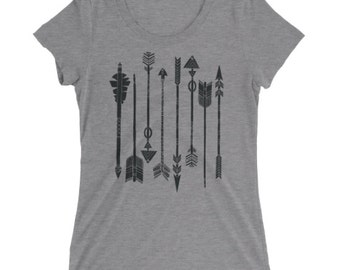 Arrows Tshirt - Arrows T Shirt - Boho Tee - Graphic Tee For Women - Gift for Her - Ladies Tshirt - by Bloom Bloom Wear