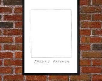 Badly Drawn Thomas Pynchon - Literary Poster - *** BUY 4, GET A 5th FREE***