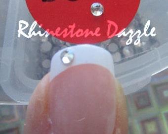 ss6 Clear Crystal Flat Back Rhinestones, Nail Rhinestones, DIY Nail Art, 3D Nail Design, Clear Crystal Nail Rhinestones, Non Hotfix