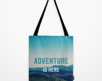 gift for him,  Mountain Tote bag, gift for hiker, gift for him,  northern, travel men, pacific northwest, cabin,, husband gift, husband