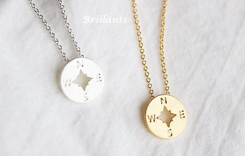 compass necklace bff friendship necklace everyday by brillants