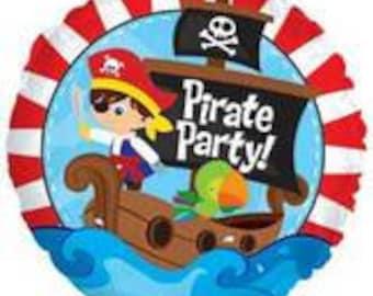 """1/ 17"""" Pirate Foil Balloon"""