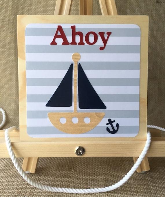 Baby Nash S Vintage Nautical Nursery: Ahoy Sailboat Art Nautical Nursery Nautical Wall Decor