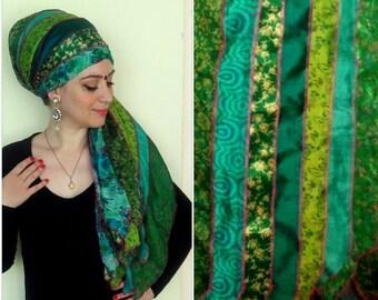 RECYCLED silk SARI SCARF recycled sari silk scarf