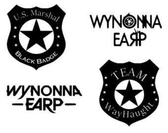 Wynonna Earp inspired decals from the SyFy TV show - Wayhaught, Black Badge