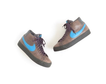 Nike Shoes Brown Blue Shoes Nike Dunk Unisex Womens Sneaker Mens Sneaker Hi Top Nike Sneaker Sz Womens US 8.5-9, Mens US 6.5-7, EU 40, Uk 6
