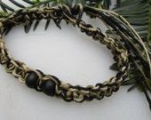 Black, Natural and Sage, Hemp Anklet, Hemp Bracelet, Hemp Necklace, Unisex Hemp Jewelry