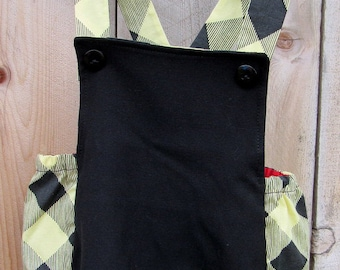 Black and Yellow Checkered Romper