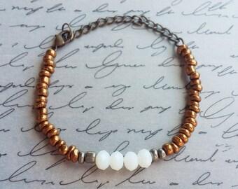 Boho Bracelet, Dainty Seed Bead Bracelet, Dainty Bracelet, Boho Jewelry, Bohemian Jewelry, Beach Jewelry, Beach Bracelet, Handmade Jewelry