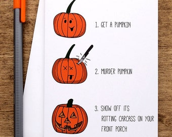Funny Halloween Card, Halloween Greeting Card, Funny Happy Halloween Card, Halloween Gift, Halloween Pumpkin Gift, Funny Card for Friend