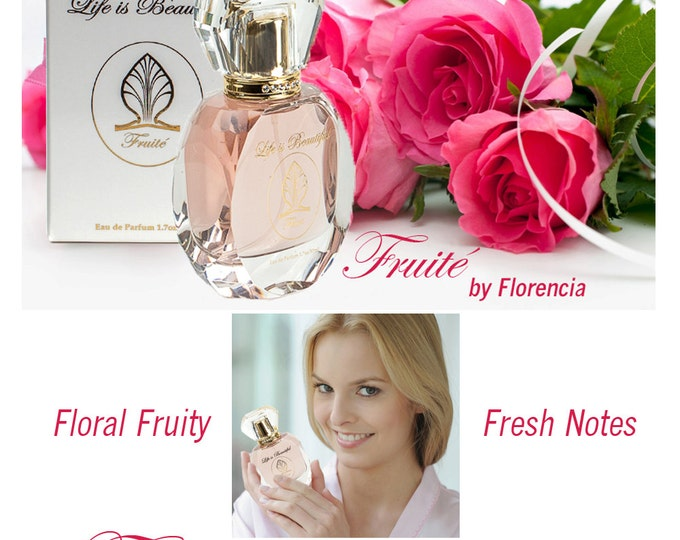 Fruité Perfume for Women Florencia Collection Life is Beautiful; Unique Gift For Women; Fruity Floral Fresh Natural Fragrance Oils.