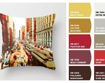 Chicago pillow/Chicago decor/Chicago art/Chicago architecture/historical Chicago/throw pillow cover
