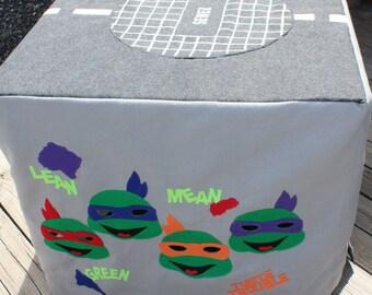 Felt playhouse | TMNT pretend play Card table play house | Ninja turtle card table tent Play house | Kids birthday Gift Turtle Christmas toy
