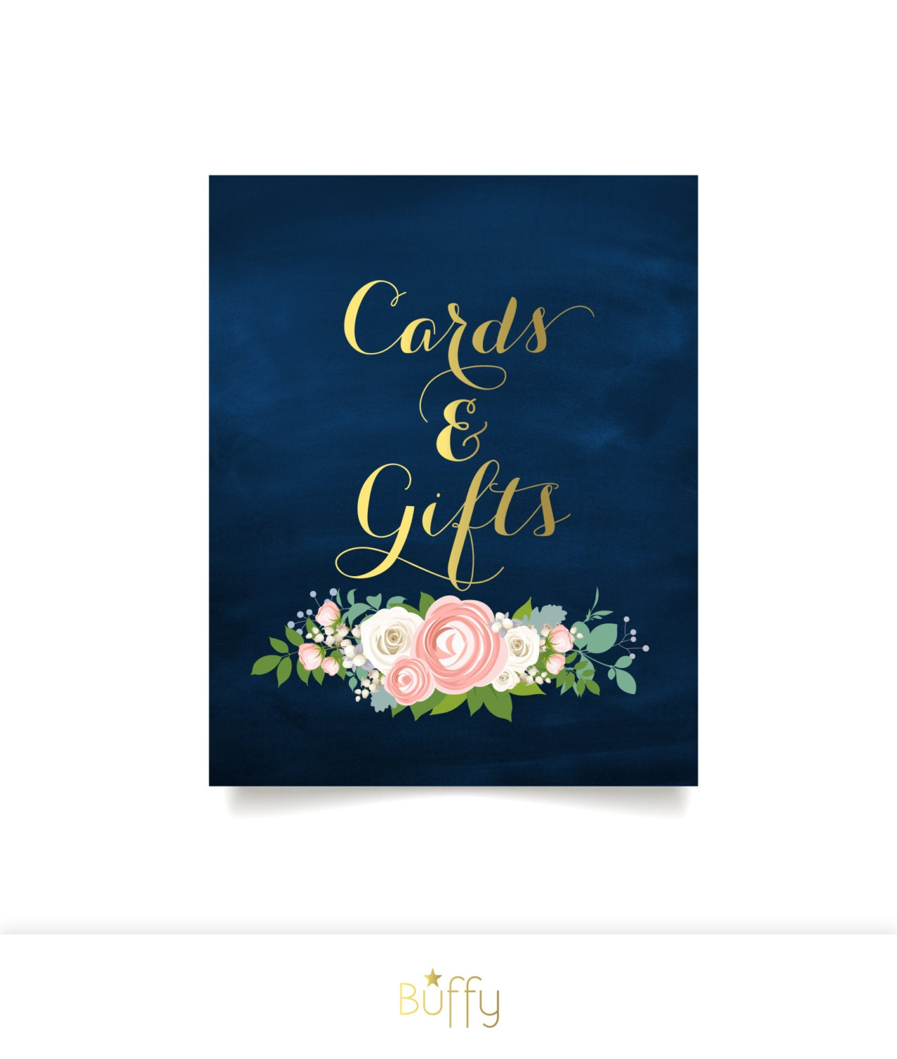 The jenny cards gifts sign gift table heavy paper print for Table 6 gift card