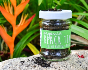Organic Black Tea in a JAR 70g - high in antioxidants / Organic Herbal Tea / Fair-trade Tea / Naturally Sourced / Flower Tea / Organic Tea