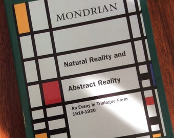 Piet Mondrian, Natural Reality and Abstract Reality, vintage book, art history, modern art, history of art, art books, ISBN 080761372X