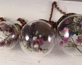 Botanical mobile- Gypsophillia pink and white