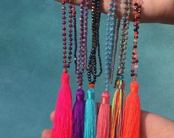 Shimmy Shimmy Tassel Necklace