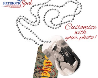 Personalized DogTag Necklace - USMC Wife - Military Dog Tags - Dog Tag Necklace - Custom Dogtags - Marine Wife - Marine Wife Necklace