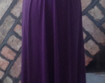 1970s, slinky purple maxi dresssize 10-12 (uk)